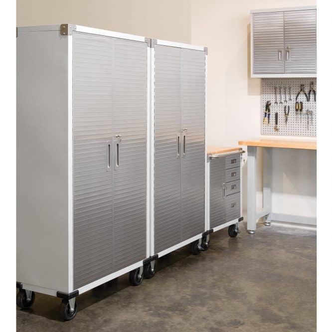 Rolling garage cabinet to organize your garage