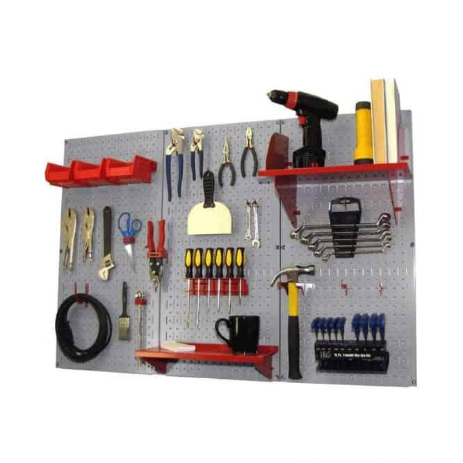garage organization peg board
