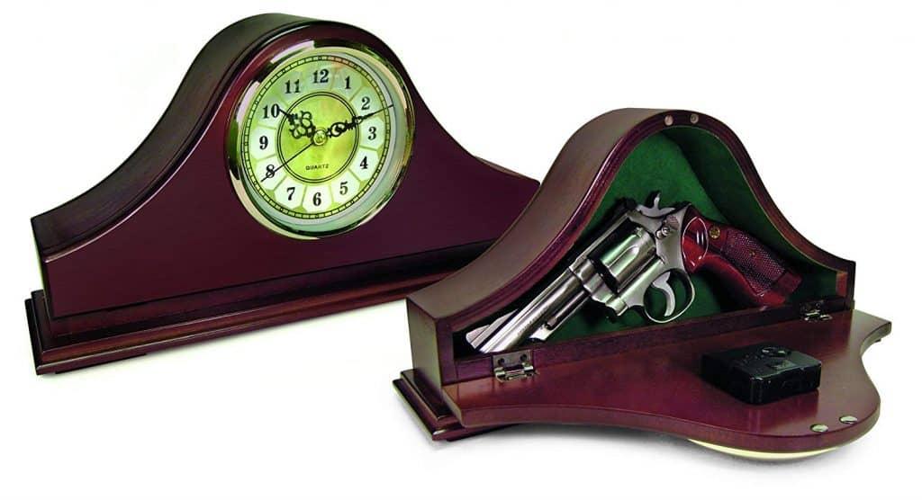 concealed storage mantle clock 2