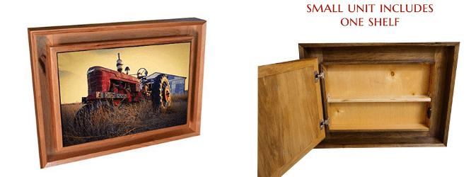 hidden picture frame storage