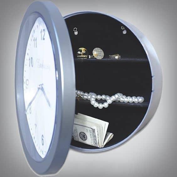 secret wall clock safe