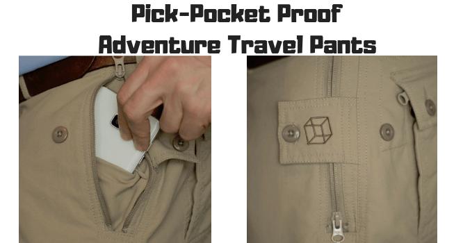 Pick-Pocket Proof Adventure Travel Pants