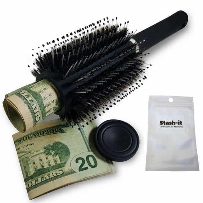 brush safe concealed storage
