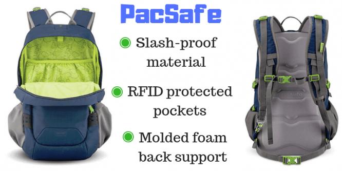 pacsafe slashproof backpack