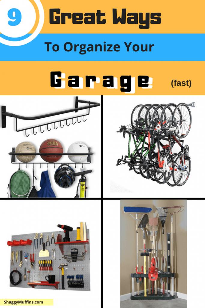 9 Great Ways to organize your garage
