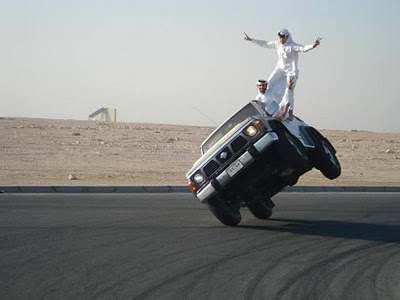 dubai two wheeled driving