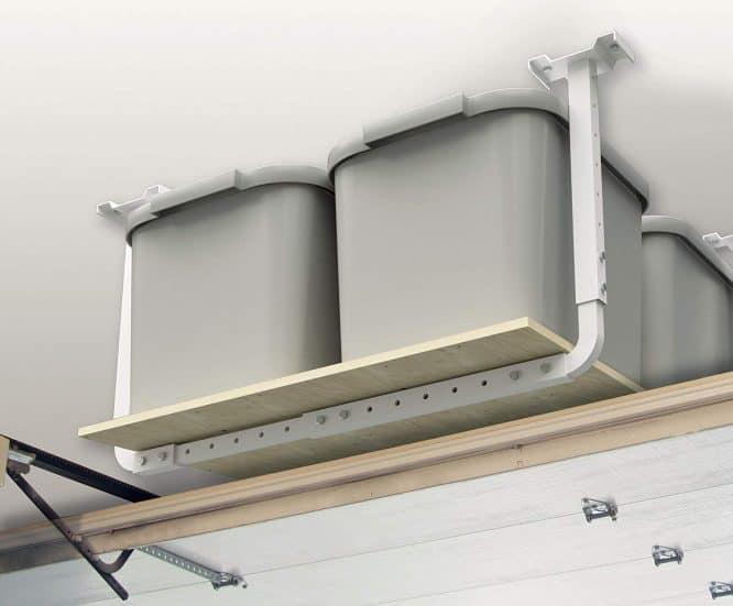 garage ceiling mounted storage for garage organization 2