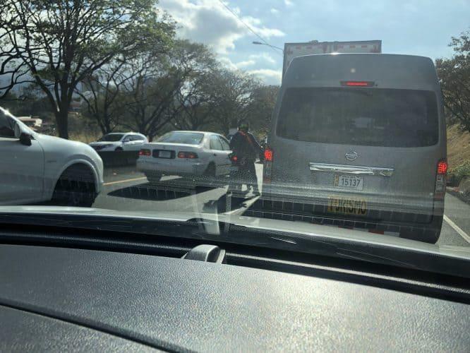 crazy traffic in san jose costa rica