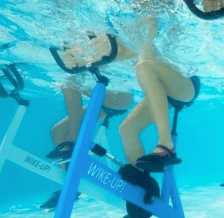 aquabike for underwater pool exercise